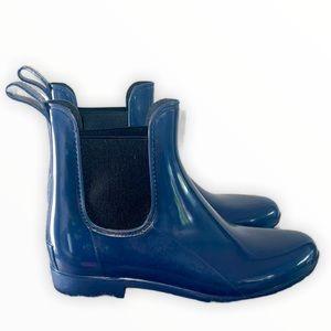 J. Crew Chelsea Blue Short Rain Boots